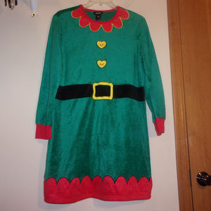 Santa's Helper green velvet costume loungewear XL